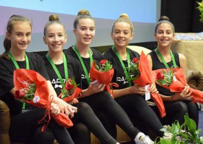 participantes gimnastas en torneo viravolta jael